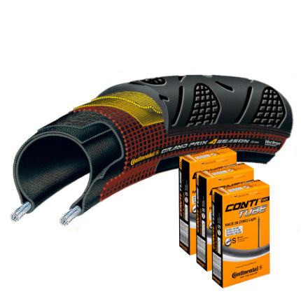 Continental Grand Prix 4 Season 25c Tyre and 3 Tubes