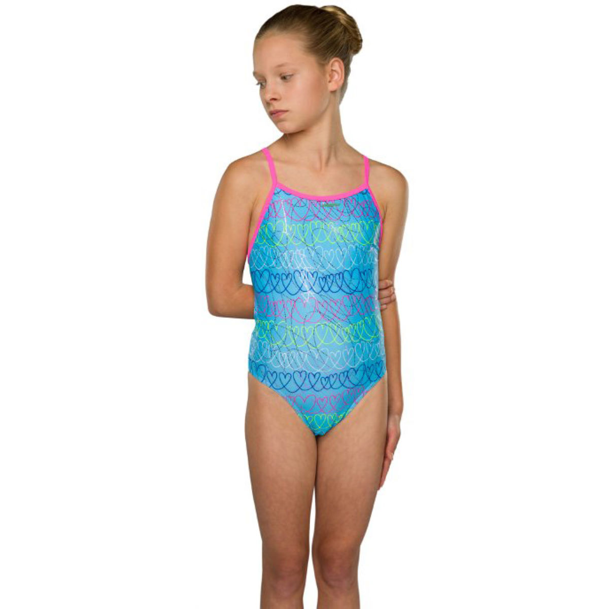 """Maru Girl's Loveheart Sparkle - 30"""" Purple 