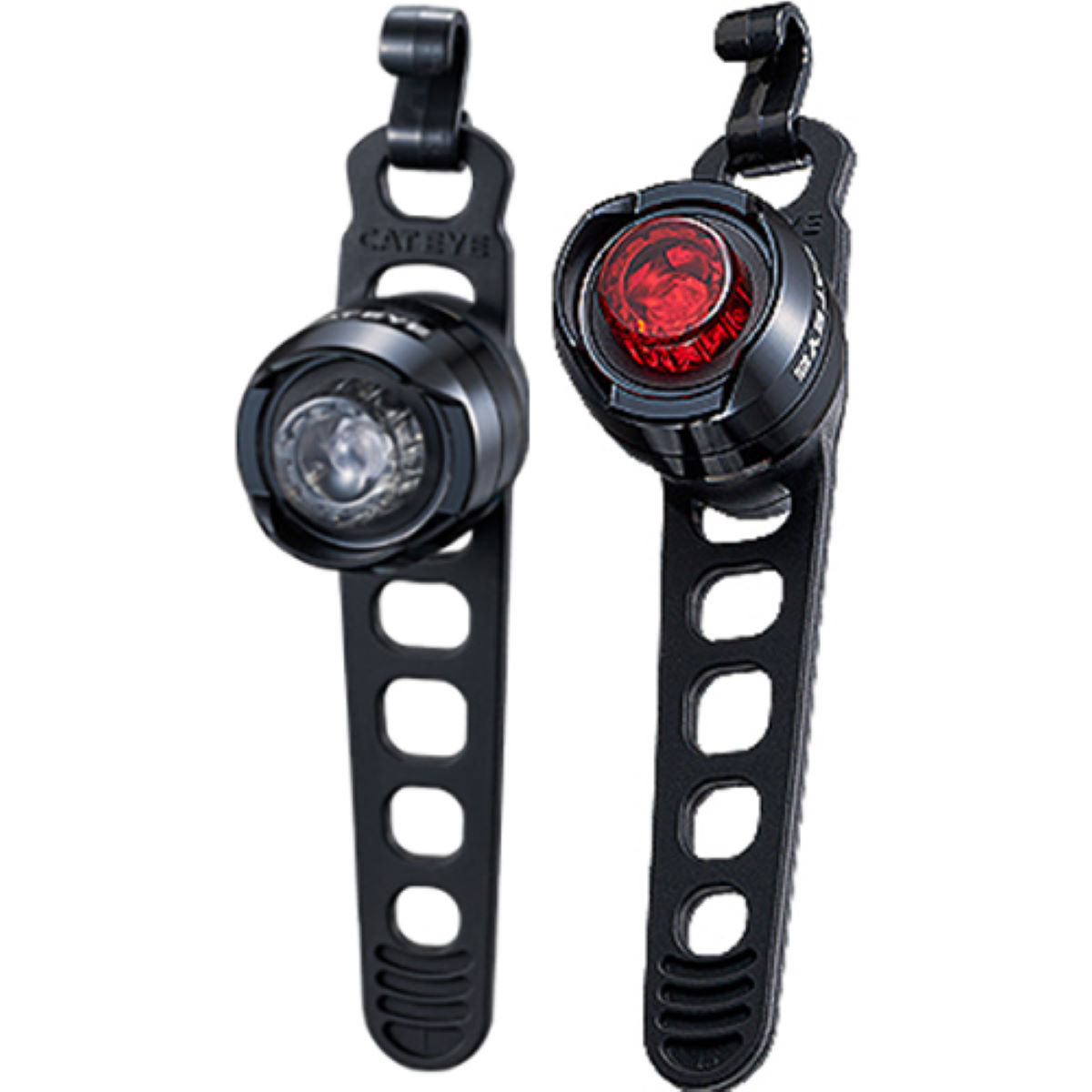 Cateye Orb Front & Rear Set Polished Black - Juegos de luces
