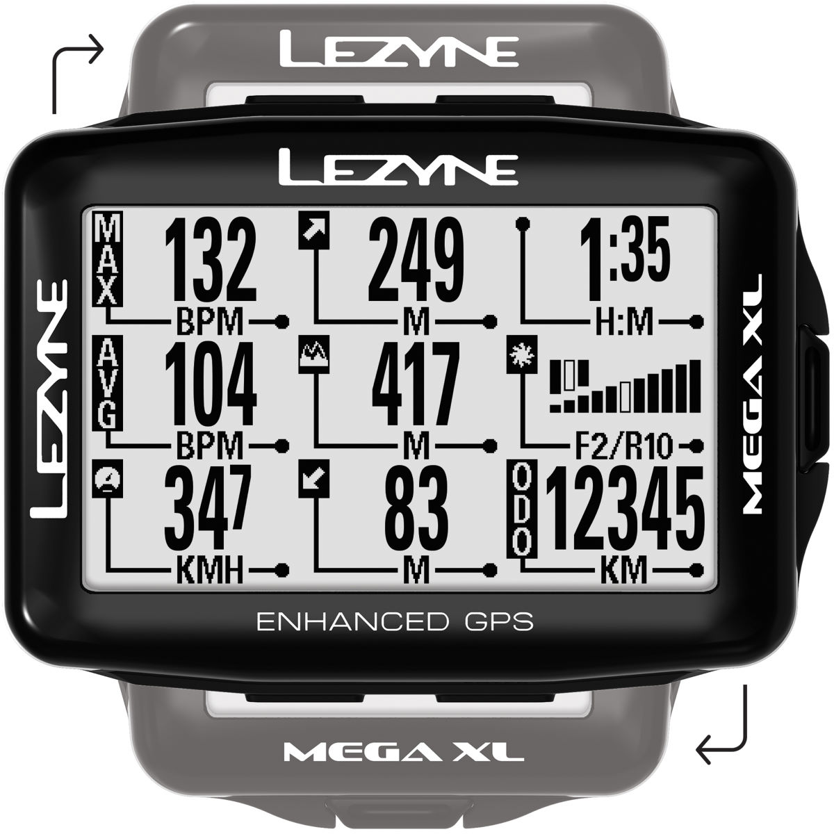 Lezyne Mega Xl GPS - Loaded - Ciclocomputadores - GPS