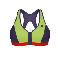 Shock Absorber Active Zipped Plunge Sports Bra (Lime Green)