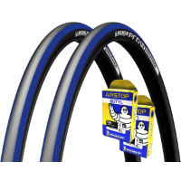 Michelin 2 Pro 4 Endurance Lead 23c Tyres & 2 Free Tubes