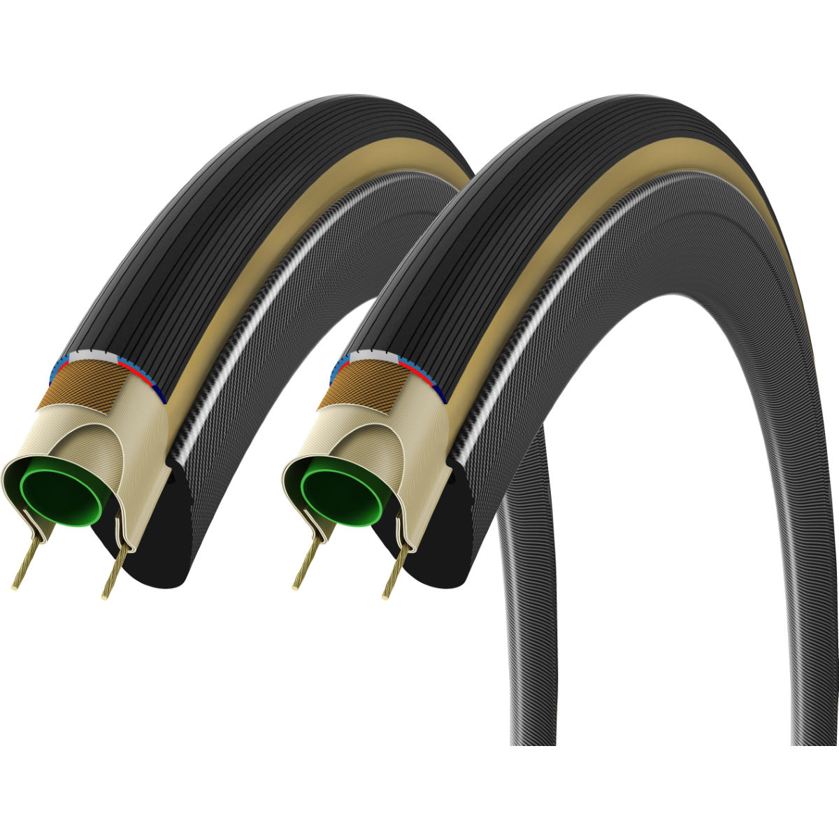 Vittoria Corsa G+ Folding Graphene Tyres 25c Brown/Black - -