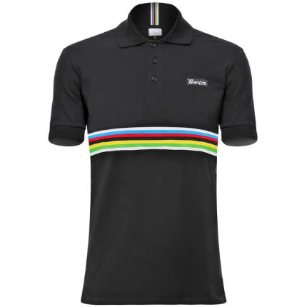 Santini UCI Short Sleeve Cotton Polo Shirt 2016