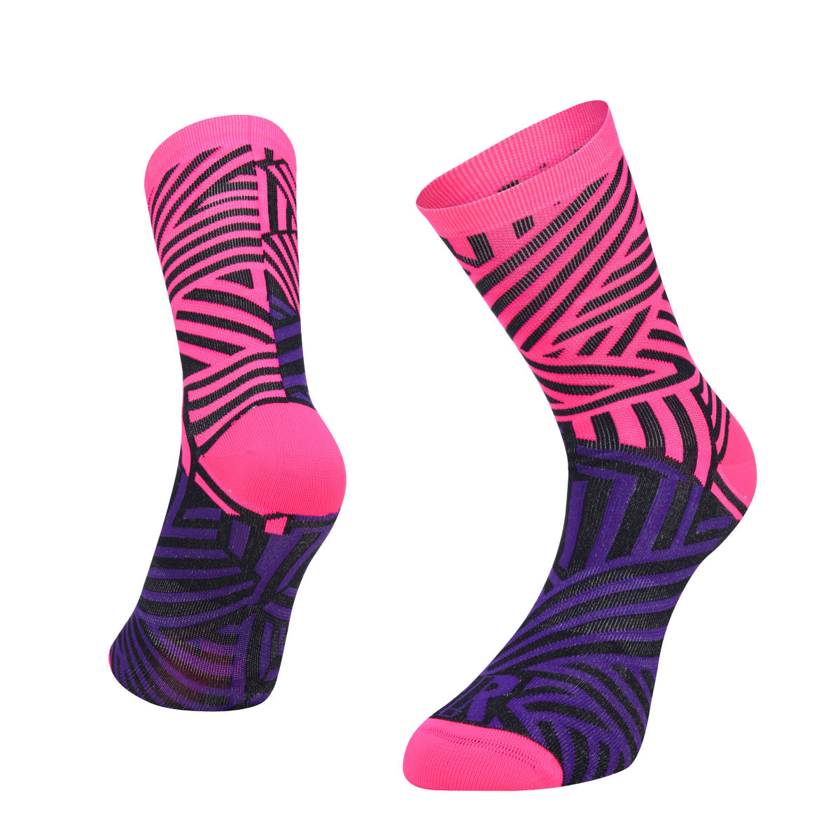 Ratio Dash 16 cm Sock (Pink/Purple) - Calcetines