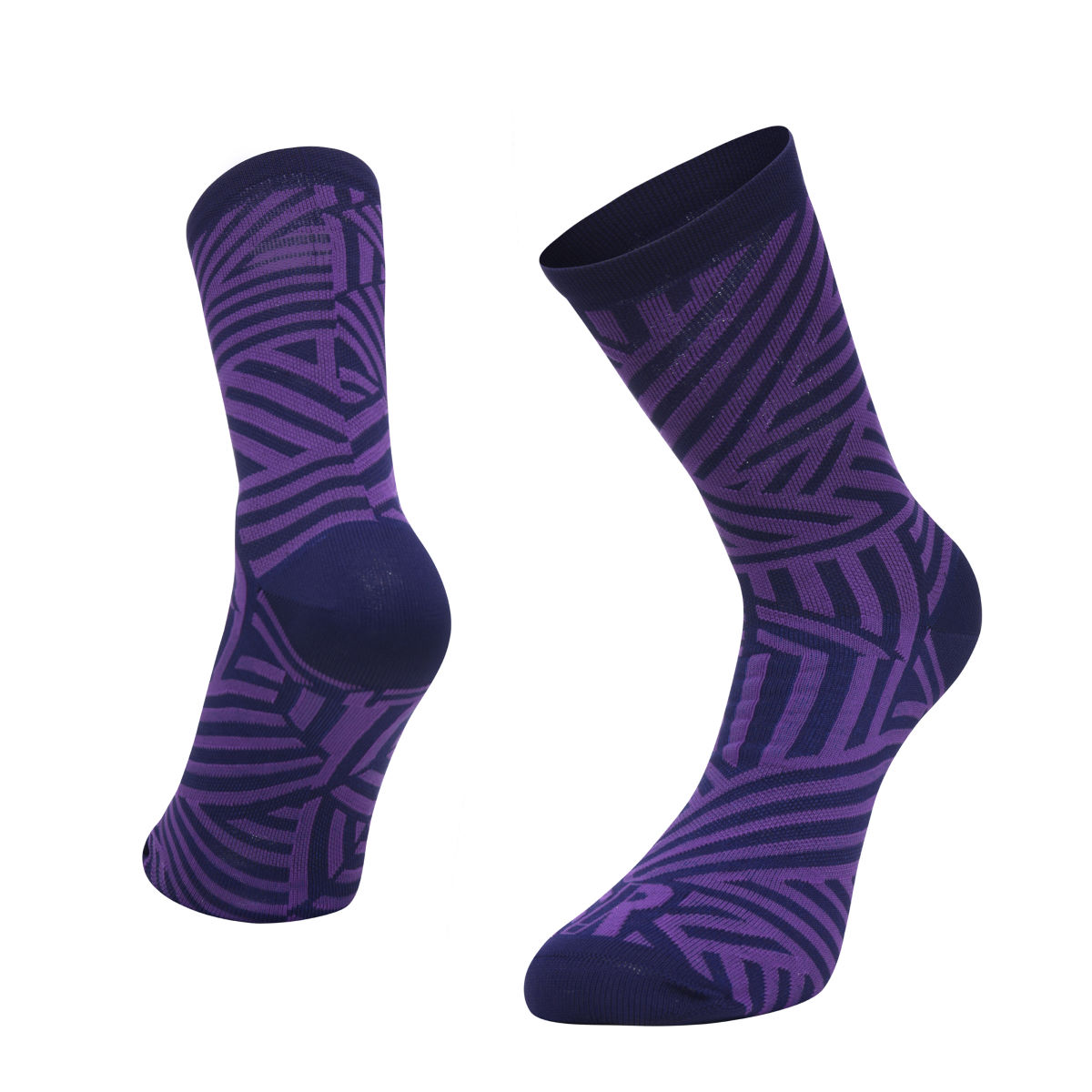 Ratio Dash 16 cm Sock (Navy/Purple) - Calcetines