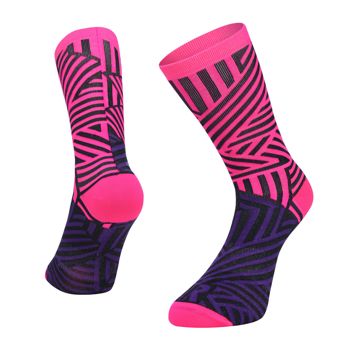 Ratio Dash 20 cm Sock (Pink/Purple) - Calcetines