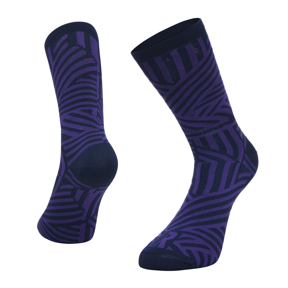 Ratio Dash 20 cm Sock (Navy/Purple) - Calcetines