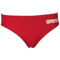 Arena Solid Brief Jr Red White