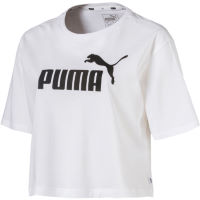 Puma Womens Elevated Crop Logo Tee