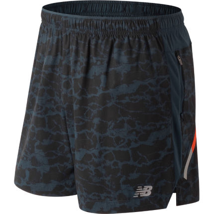 "New Balance Printed Impact 5"" Run Short"