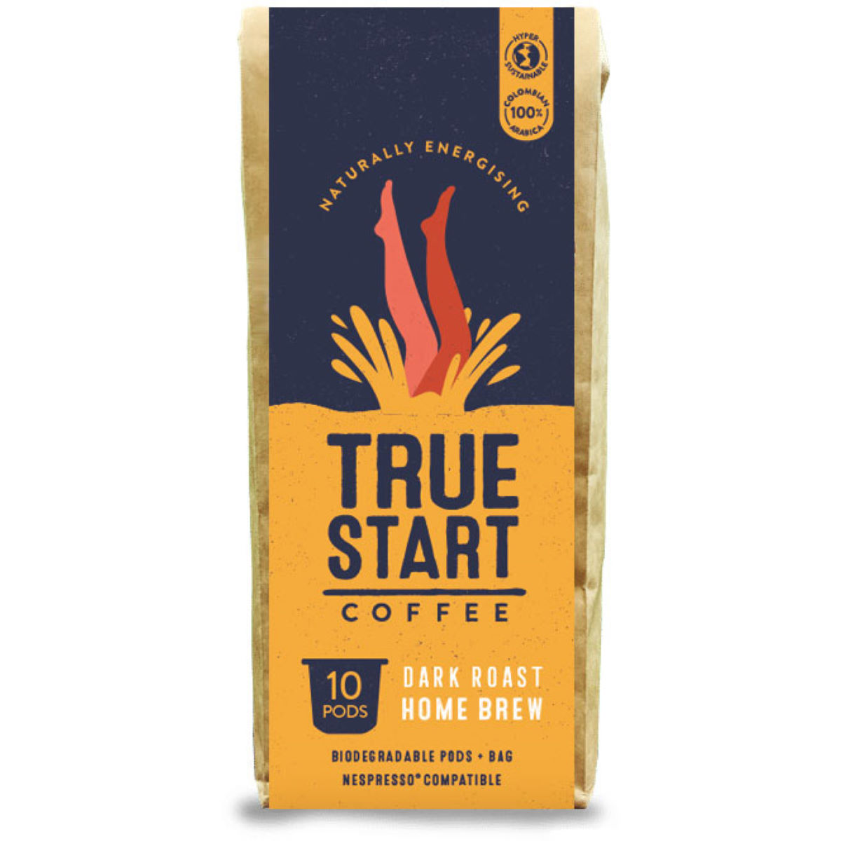 TrueStart TrueStart Home Brew Coffee - Biodegradable Dark Ro - Café