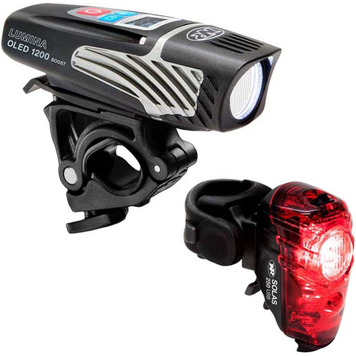 NiteRider Lumina 1200 Oled Boost/Solas 250 Combo Light Set - Juegos de luces