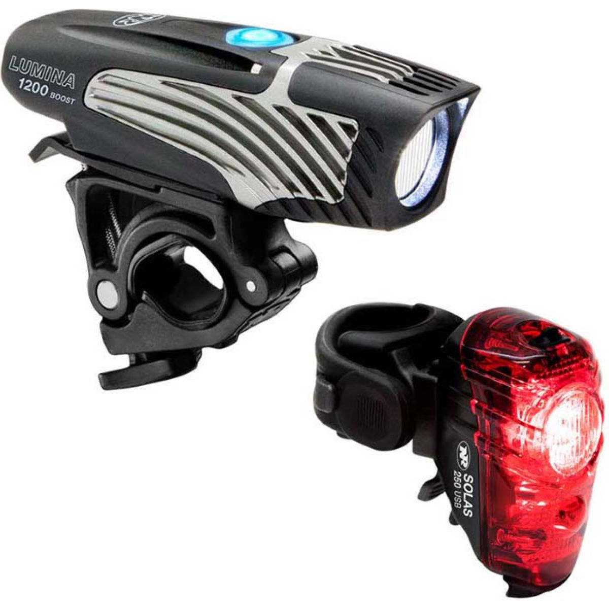 NiteRider Lumina 1200 Boost/Solas 250 Combo Light Set - Juegos de luces