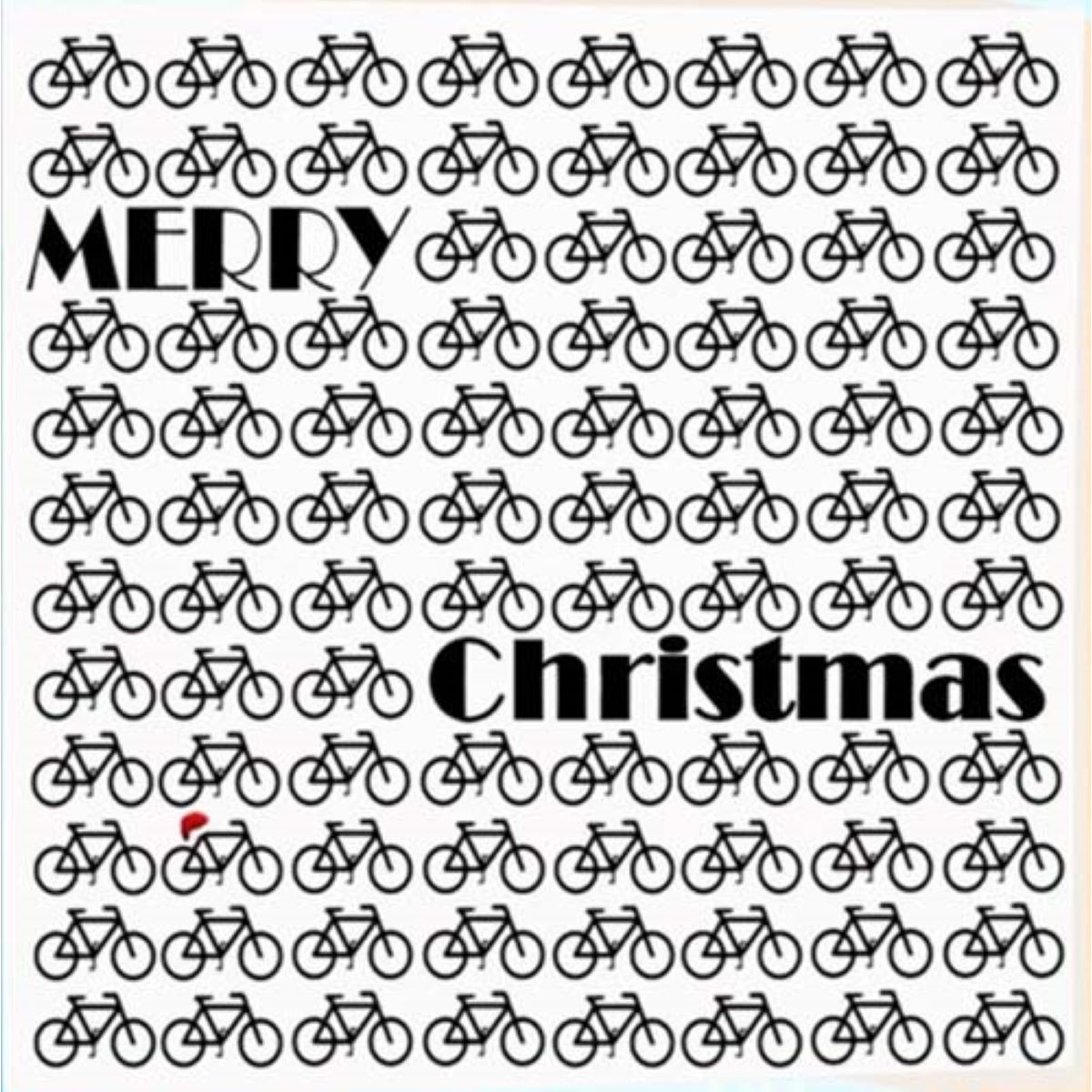 Worry Less Designs Christmas Bikes Christmas Card - Regalos