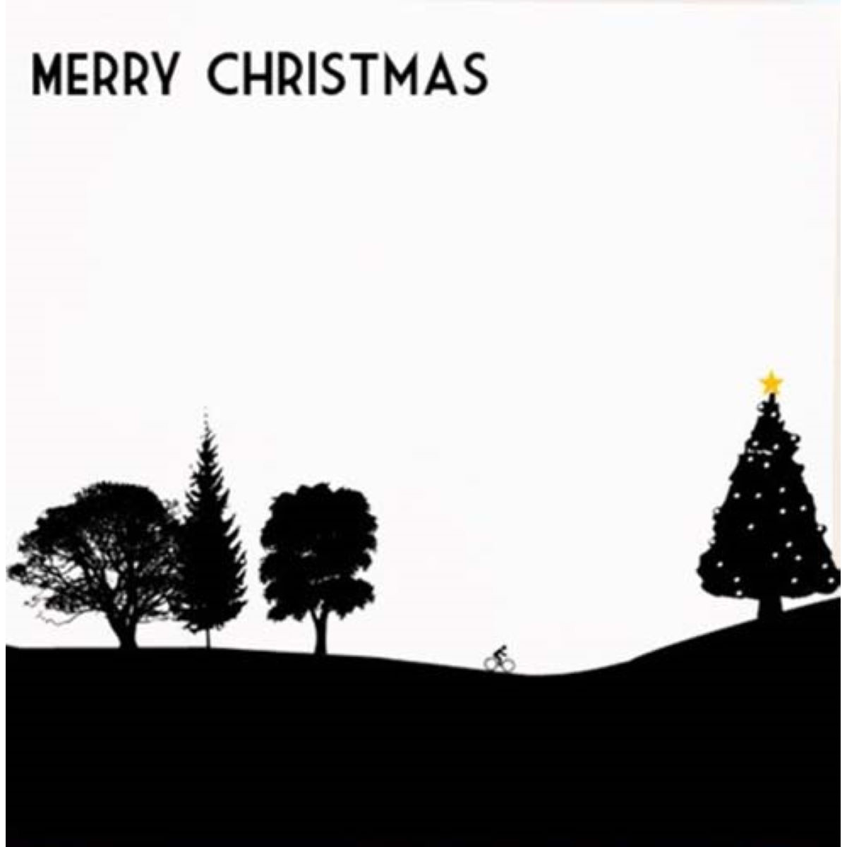 Worry Less Designs Christmas Cyclist Christmas Card - Regalos