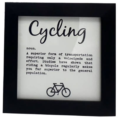 worry-less-designs-cycling-definition-framed-print-geschenke