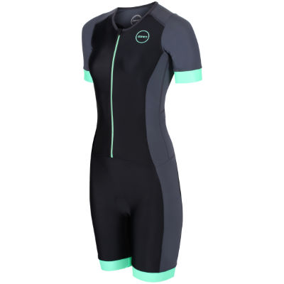 Women's Aspire Tri suit (Wiggle Exclusive) - Trajes de triatlón BLACK/MINT GREEN XL