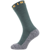 SealSkinz Soft Touch Mid Socks Green / Grey / Orange M
