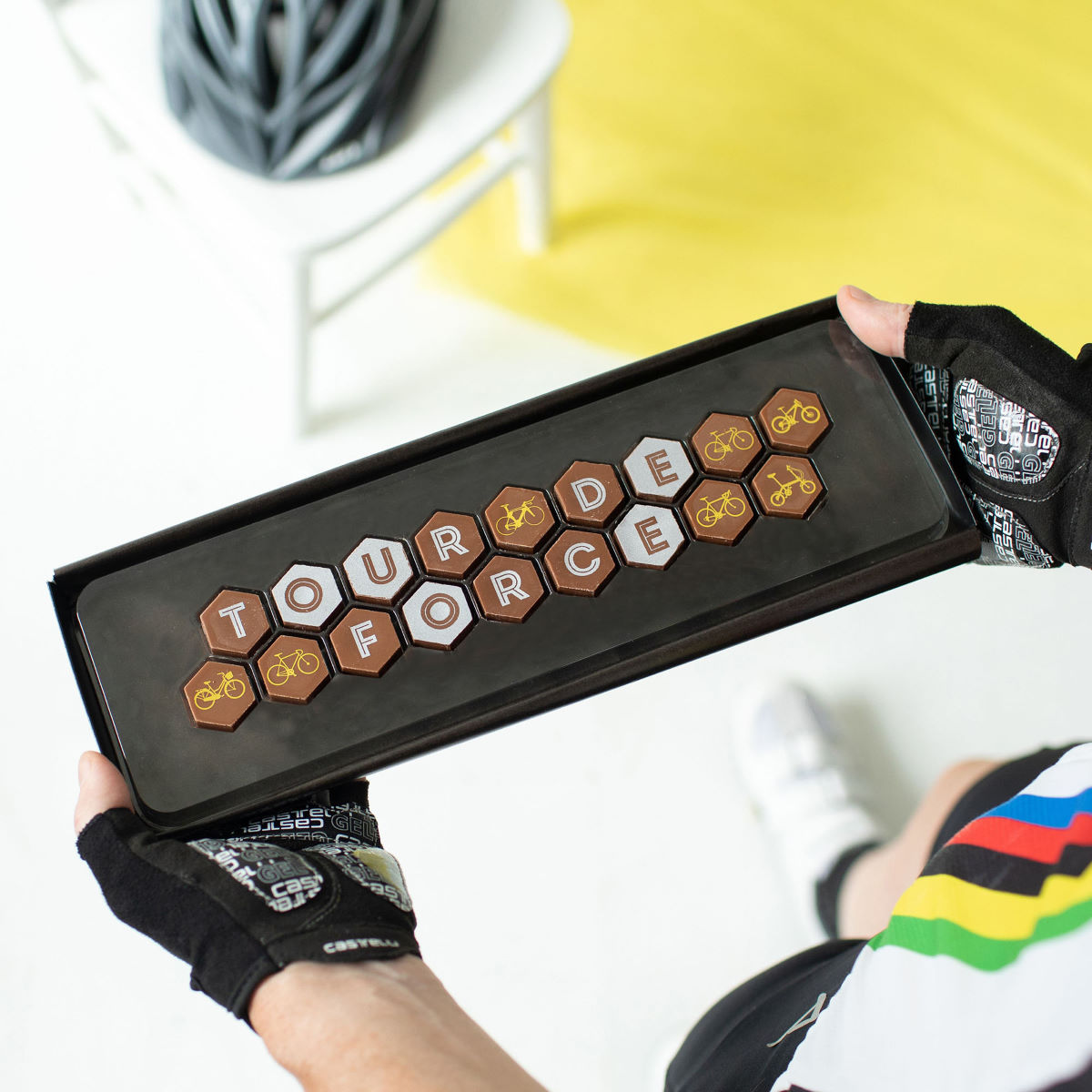 Quirky Gift Library Tour De Force Bike Chcolates - Regalos