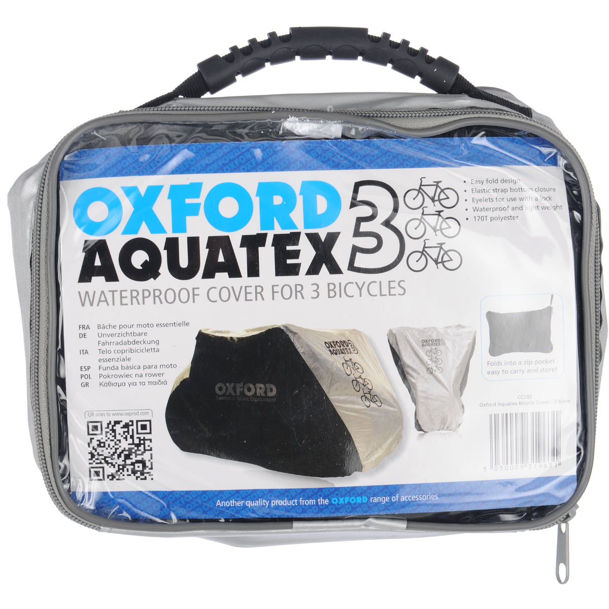 Housse de vélo Oxford Aquatex 3 - 200x105x110cm Black - Silver