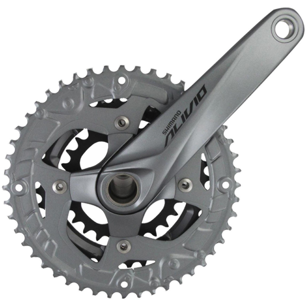 Wiggle Cycle To Work Shimano Alivio M4060 9 Speed Triple Chainset Groupset M4000