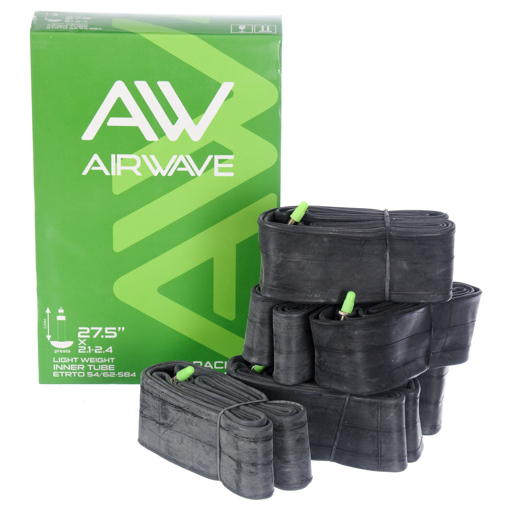 Chambres air vtt airwave mtb light weight tube 6 pack wiggle france - Vtt tubeless ou chambre a air ...