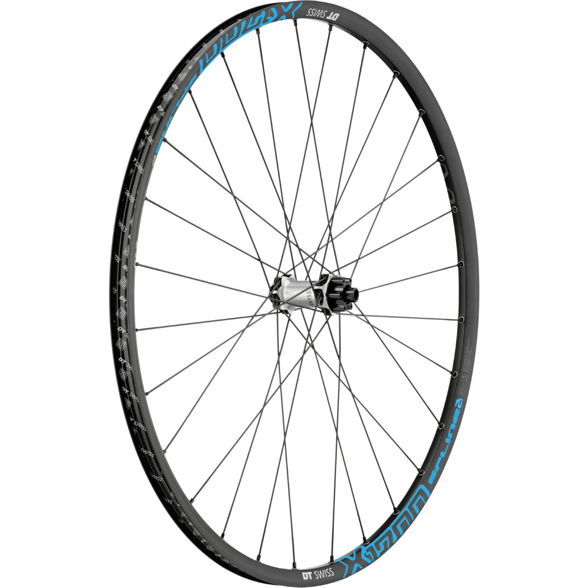 Roue avant VTT DT Swiss X 1700 Spline Two - 29'' 6-Bolt Black-Blue