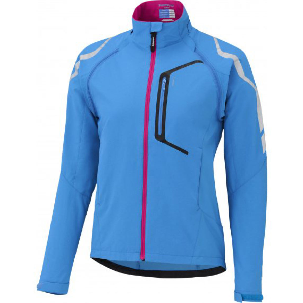 Veste Femme Shimano Hybrid - M Lightening Blue Coupe-vents vélo