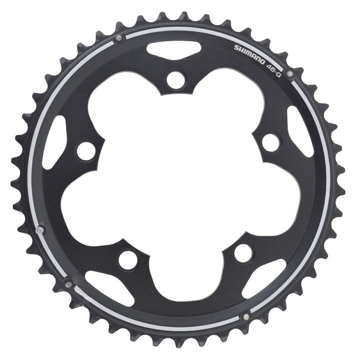 Plateau Shimano 105 FCCX50 Double (10 vitesses) - 46t 10 Speed Noir