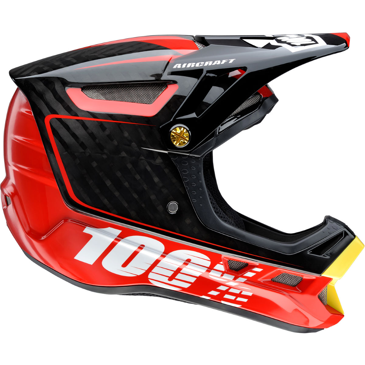 100% Aircraft Composite DH/BMX Helmet - Bi-Turbo Red - Cascos