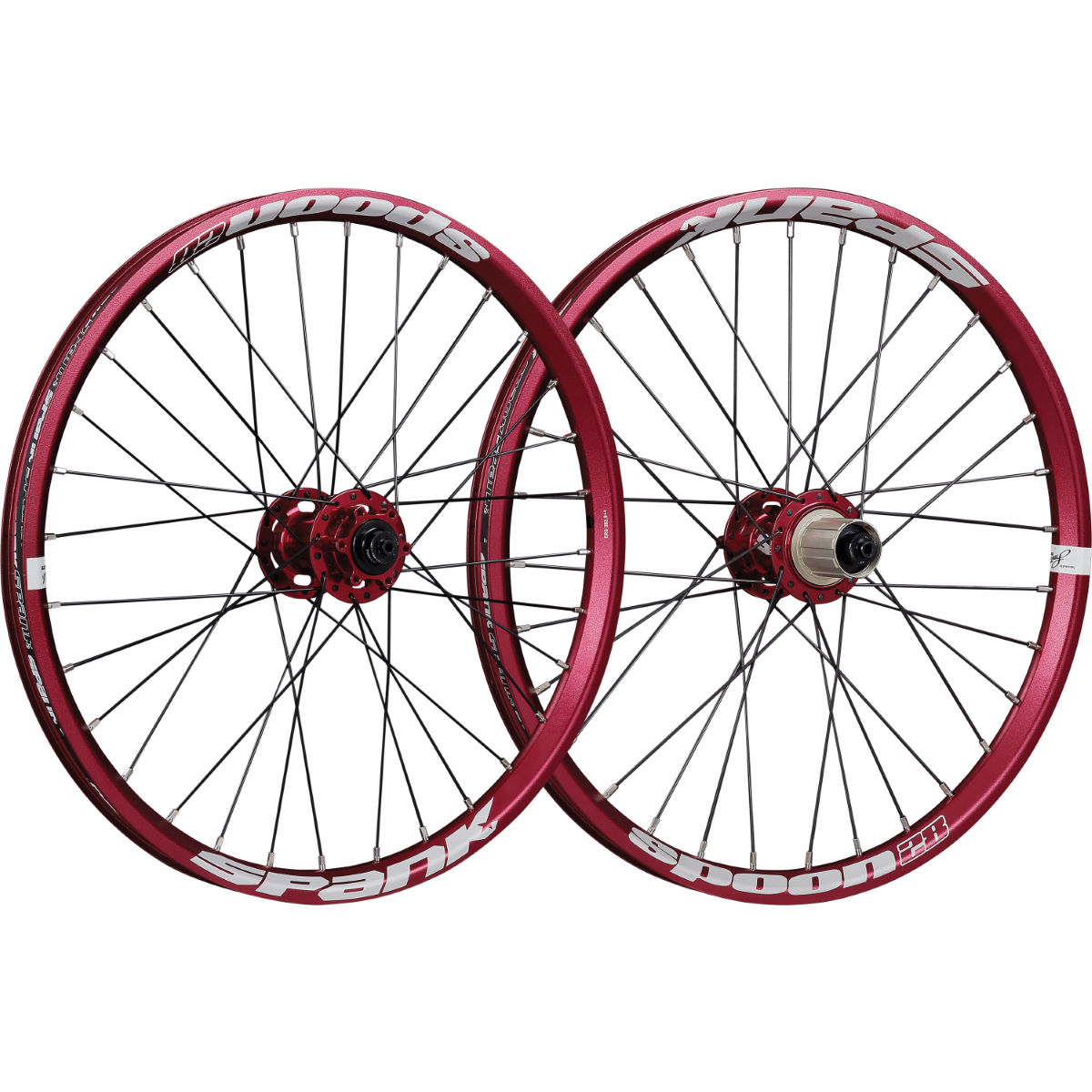Paire de roues Spank Spoon 28 - 20'' 9/10/11 Speed 15 Rouge