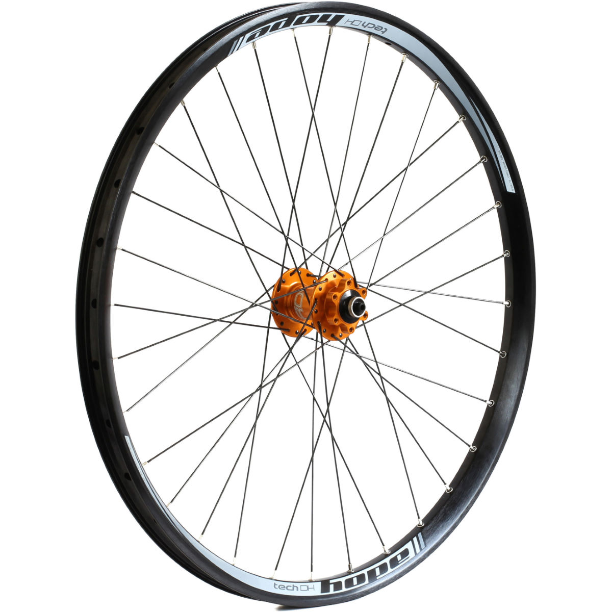 Roue avant VTT Hope Tech DH Pro 4 - 26'' n/a 20mm - Thru Orange