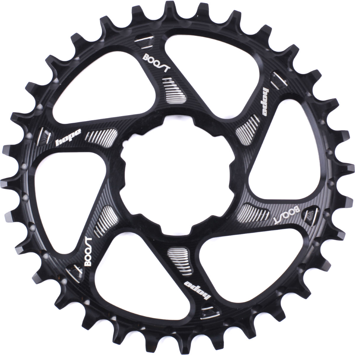 Plateau de retenue Hope Spiderless Boost - 36t 9/10/11 Speed Noir