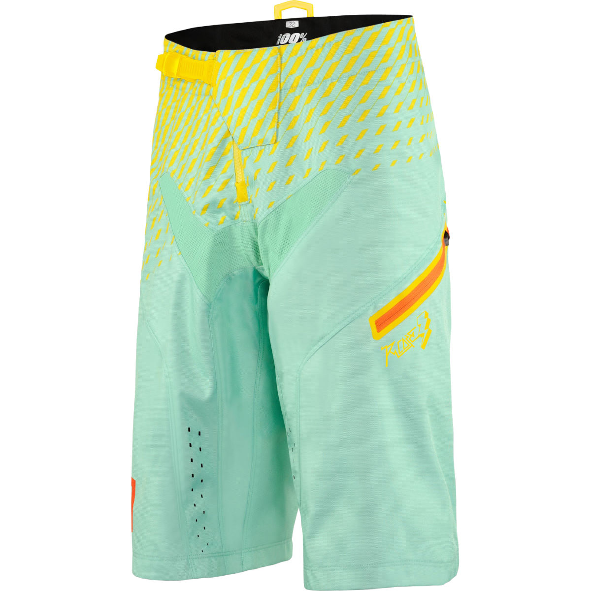 100% R-Core Supra DH Shorts - 30 Seafoam | Baggy Cycling Shorts