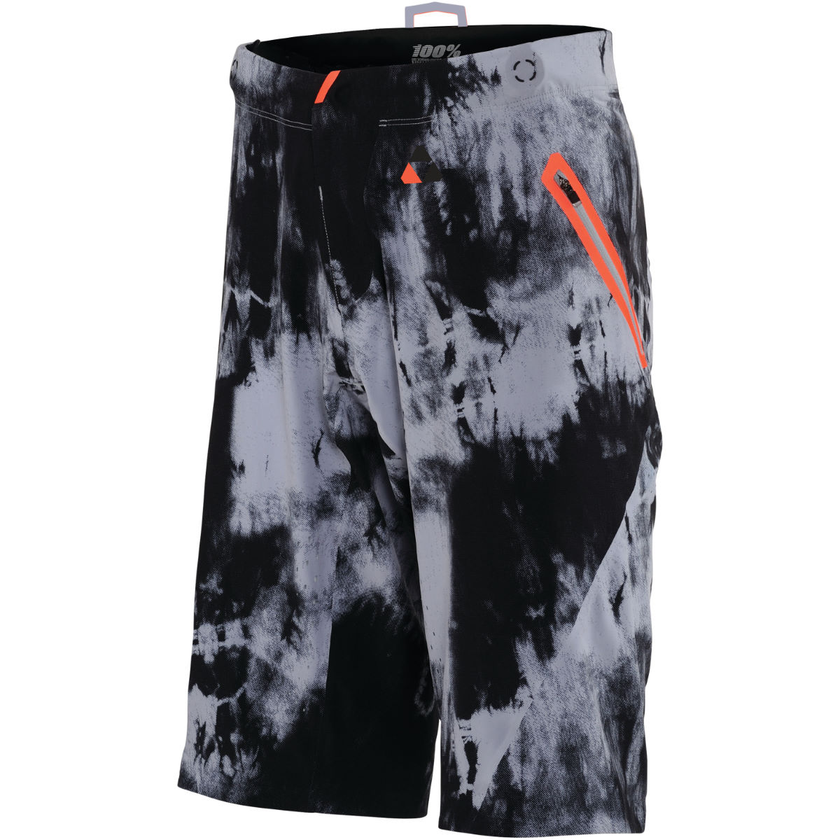 100% Celium Tiedyed Shorts - 28 Black - Tiedyed | Baggy Cycling Shorts