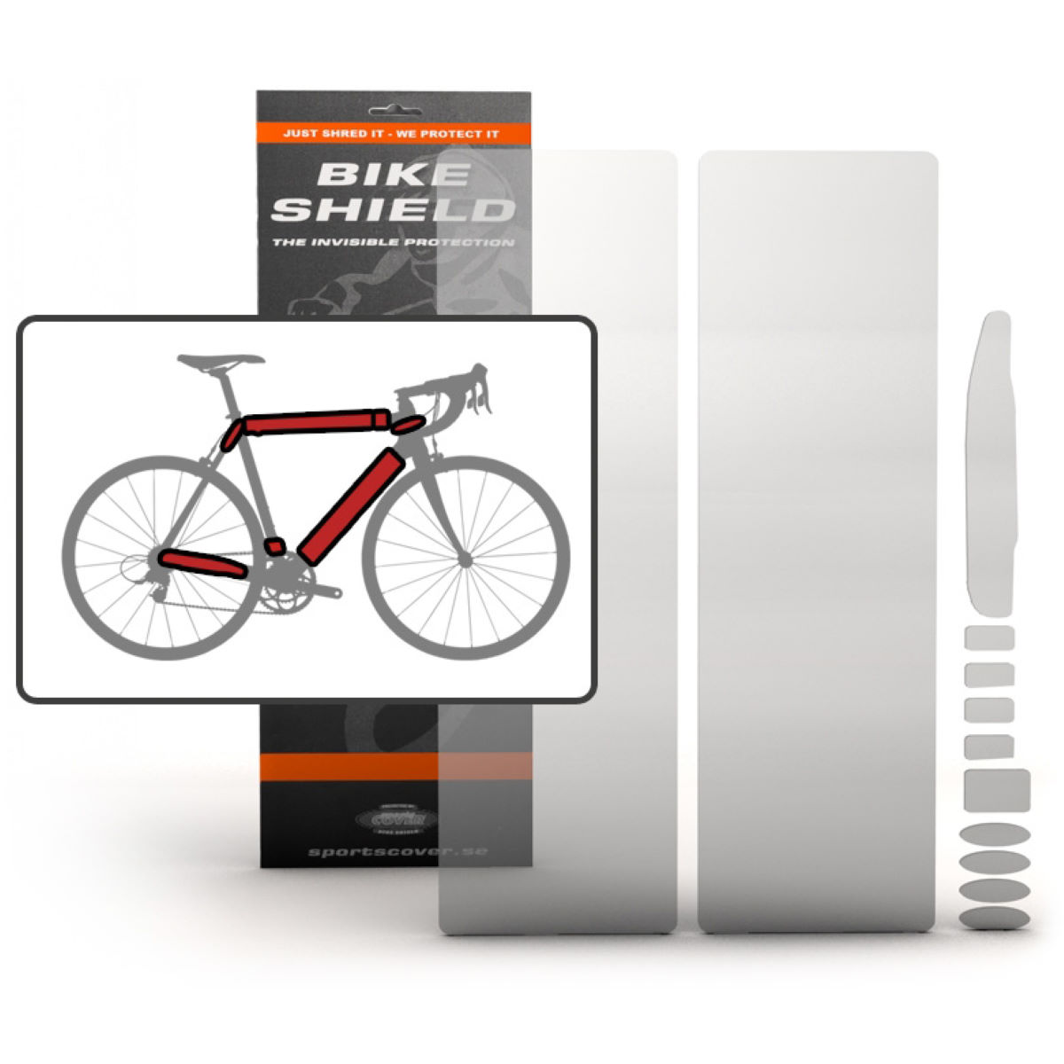 Bike Shield Full Pack Oversize - Protectores de cuadro