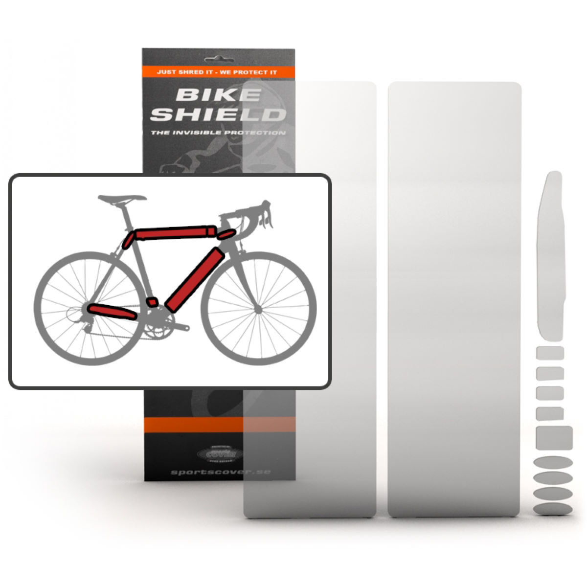 Bike Shield Full Pack Oversize - Protectores de cuadros