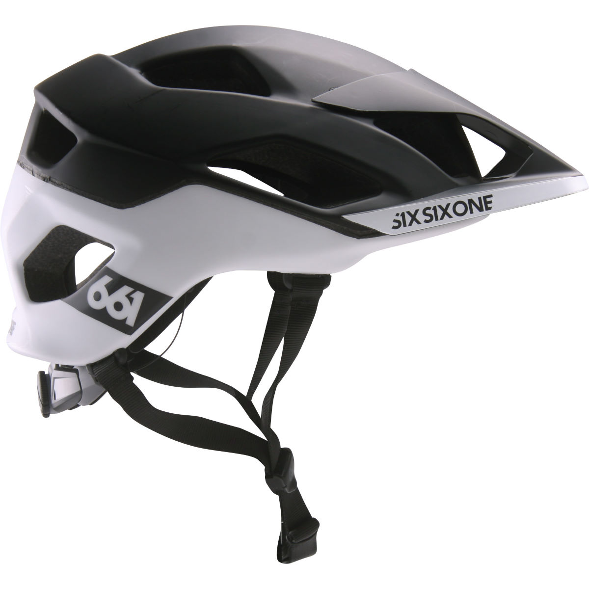 Casque SixSixOne Evo AM Patrol MIPS - XS/S Black - White Casques VTT