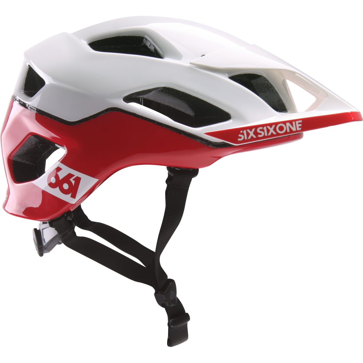 Casque SixSixOne Evo AM Patrol MIPS - XL/2XL Blanc/Rouge Casques