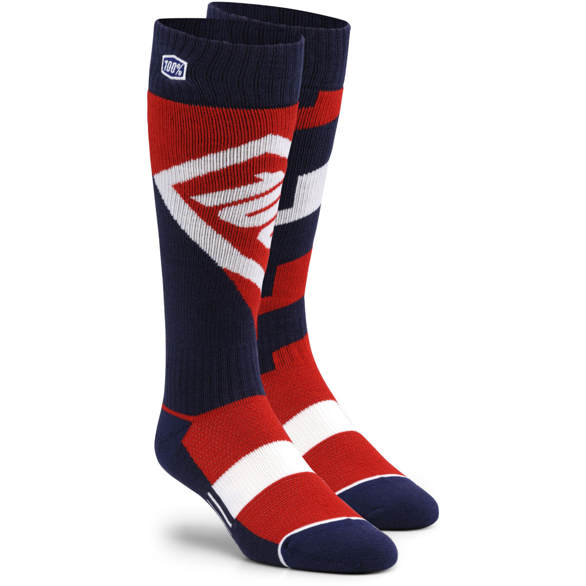 100% Youth Torque Moto Socks - S/M Red | Outdoor Socks