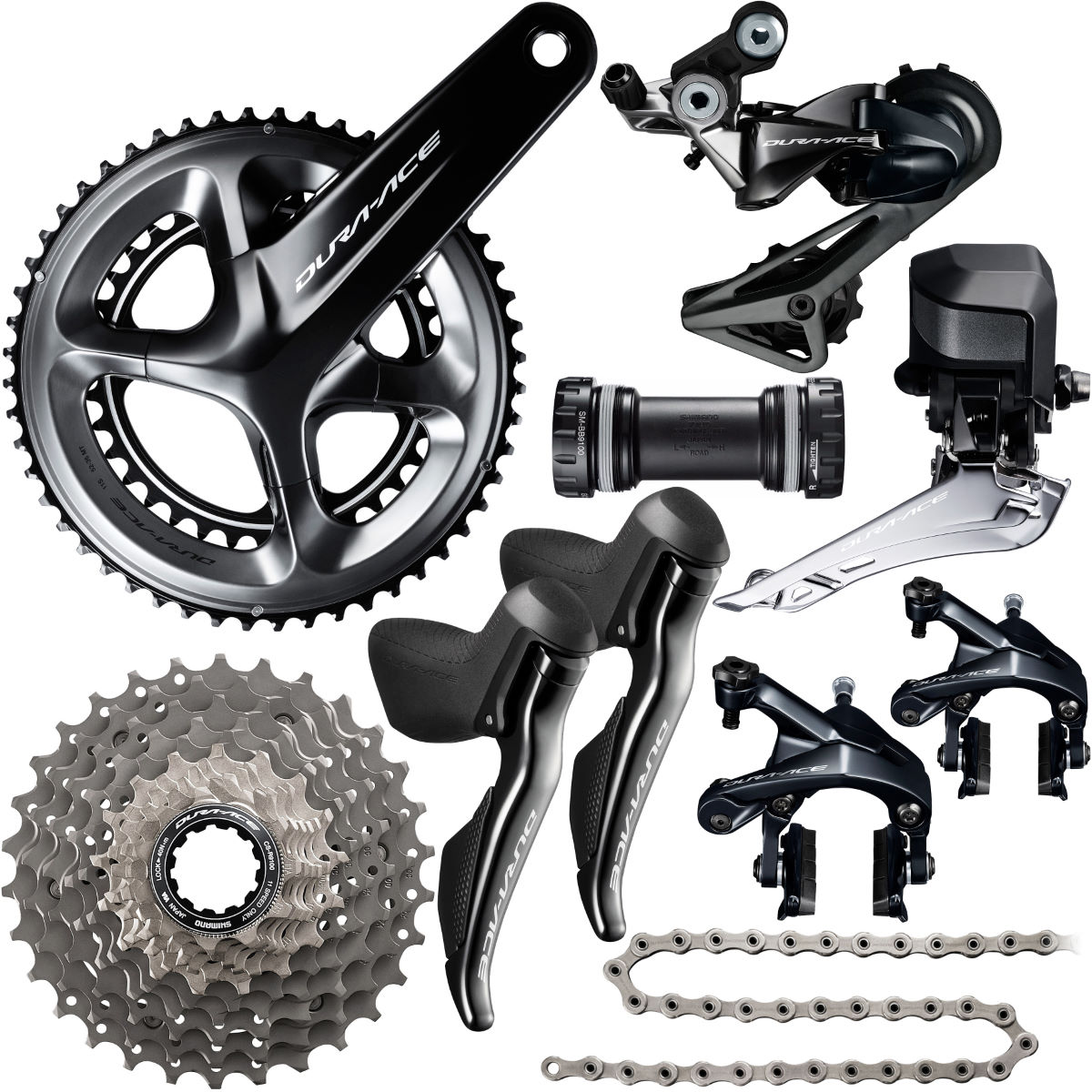 Groupe Shimano Dura-Ace R9150 Di2 (11 vitesses) - 175mm 52.36 11-28