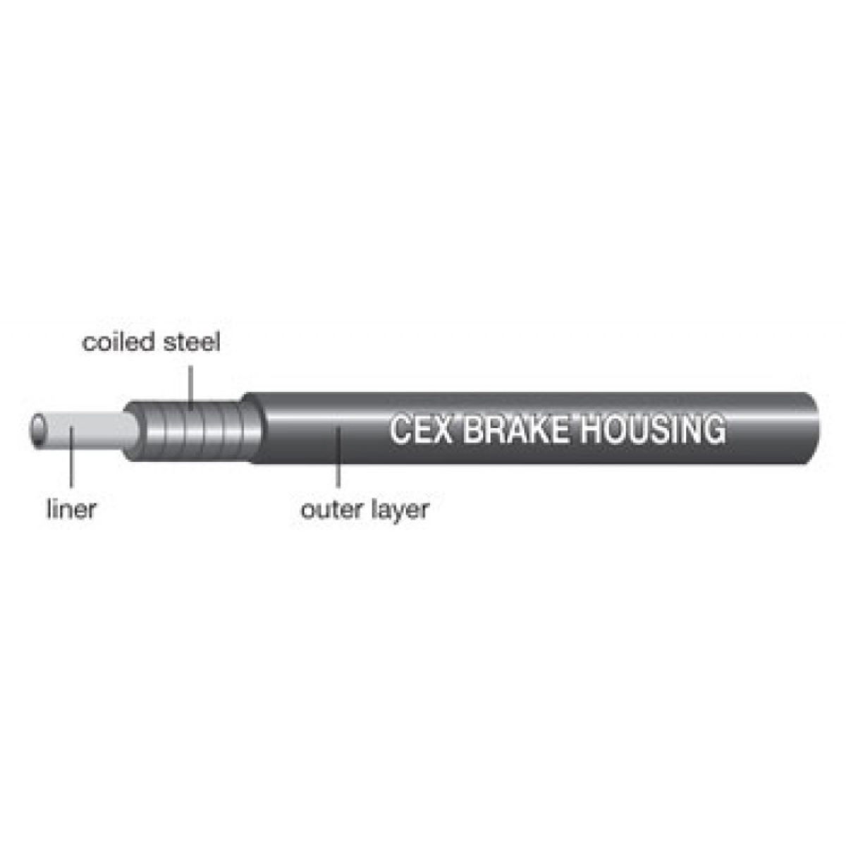 Jagwire CEX Outer Brake Housing - Cables de freno