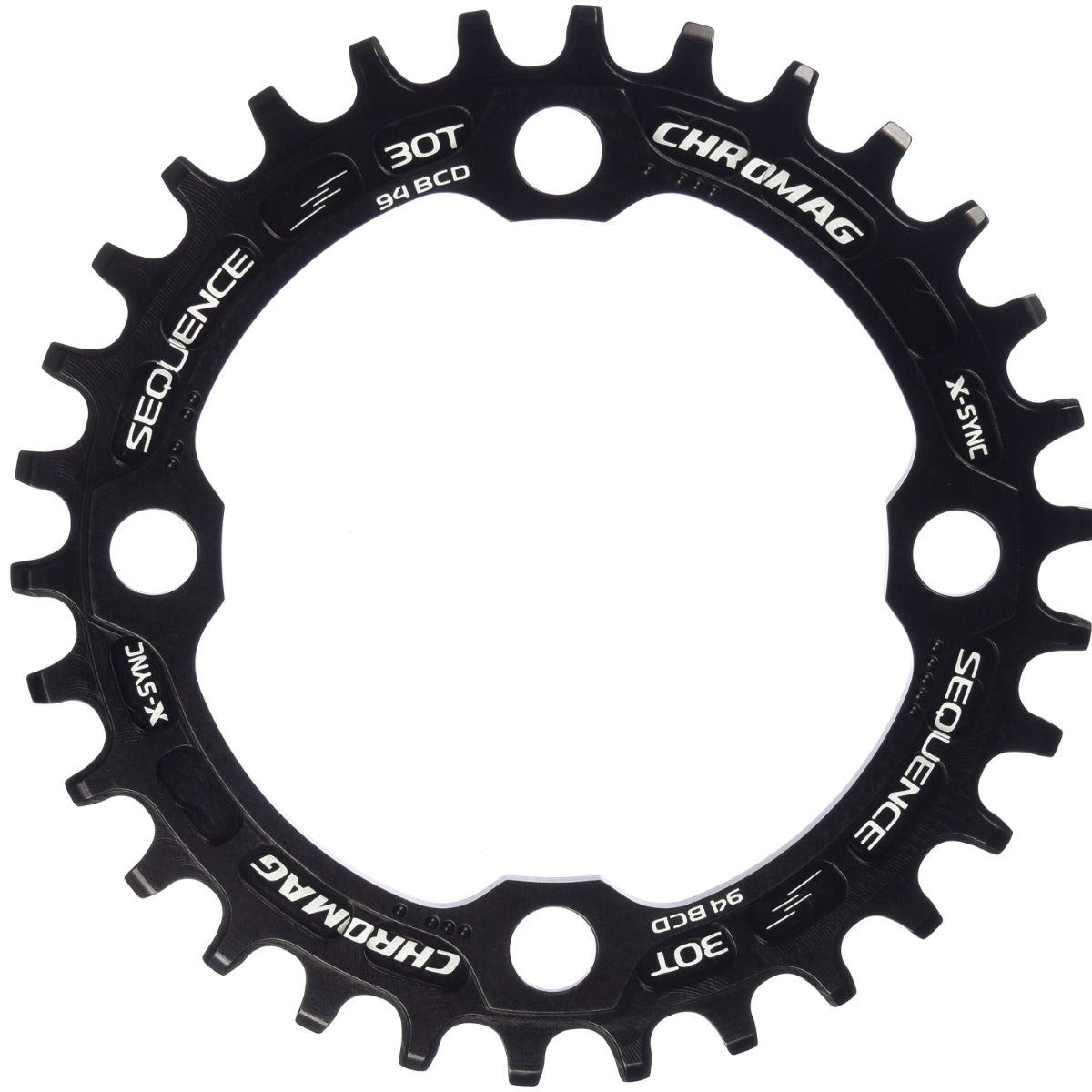 Plateau Chromag Sequence 94 BCD X-Sync - 30t 9/10/11 Speed Noir