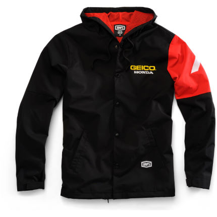 100% Geico Honda Flux Hooded Jacket