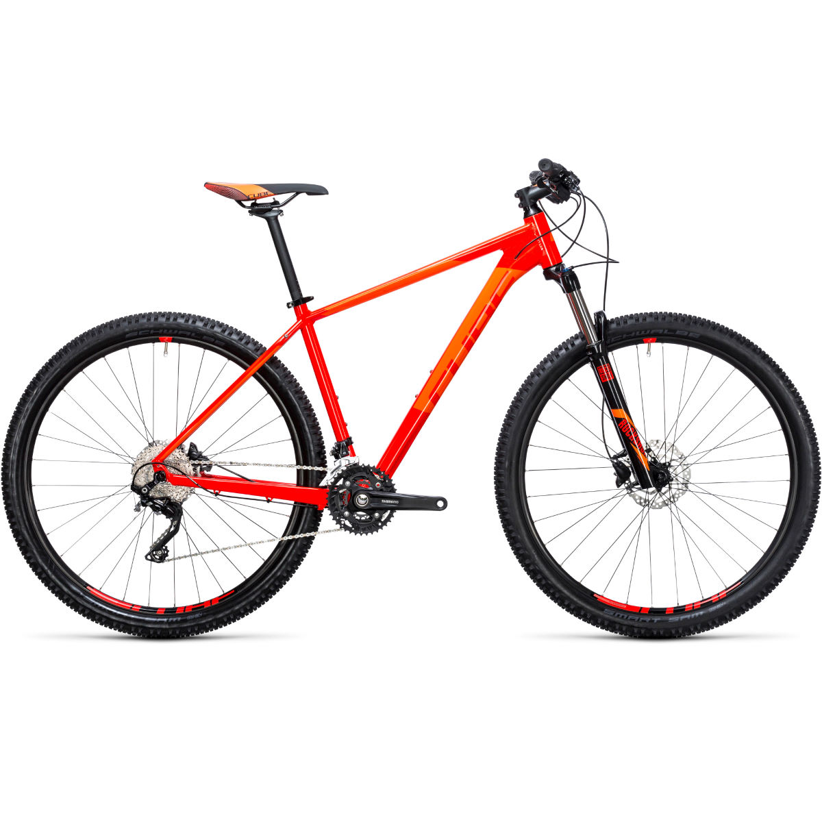VTT semi-rigide Cube Attention 27,5 pouces (2017) - Red - Flashorange