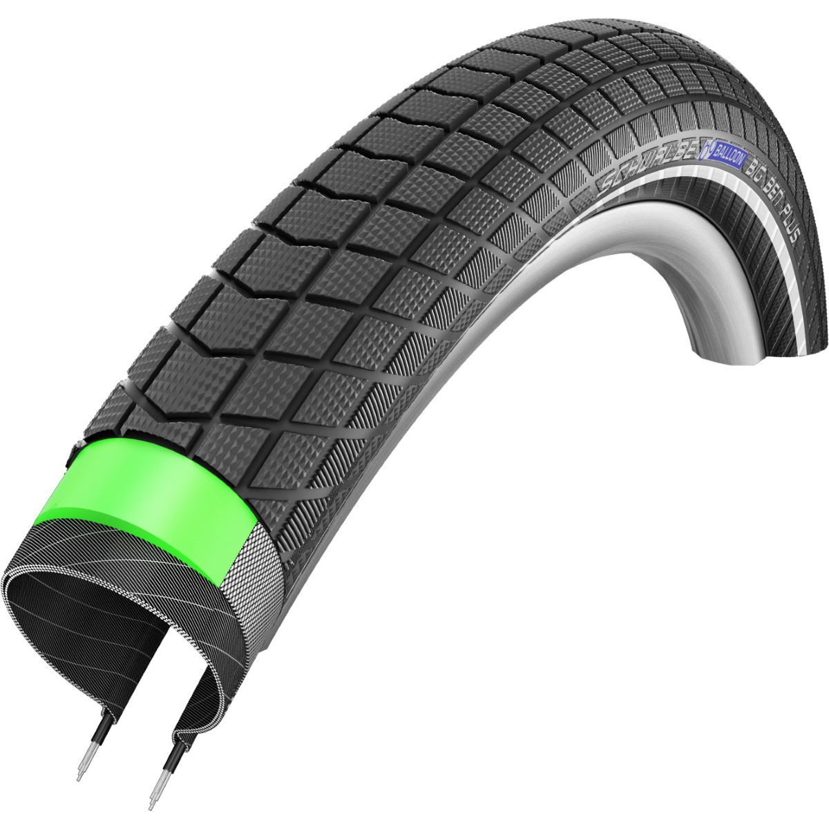 Pneu VTT Schwalbe Big Ben Plus GreenGuard - 26' 2.15' Wire Bead Noir