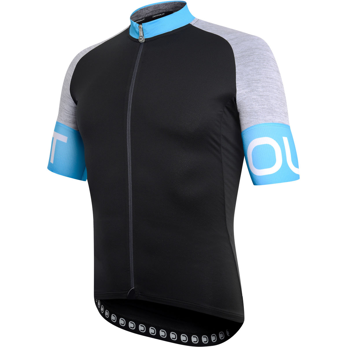 Maillot Dotout Pure - S Black - Light Blue Maillots