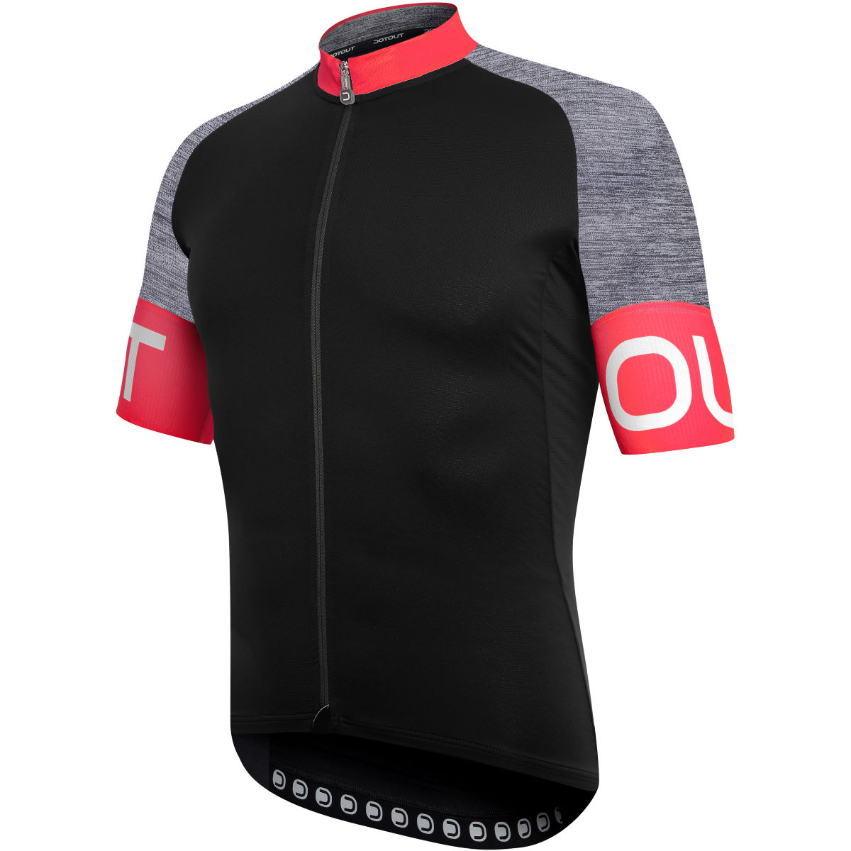 Maillot Dotout Pure - S Black - Red Maillots
