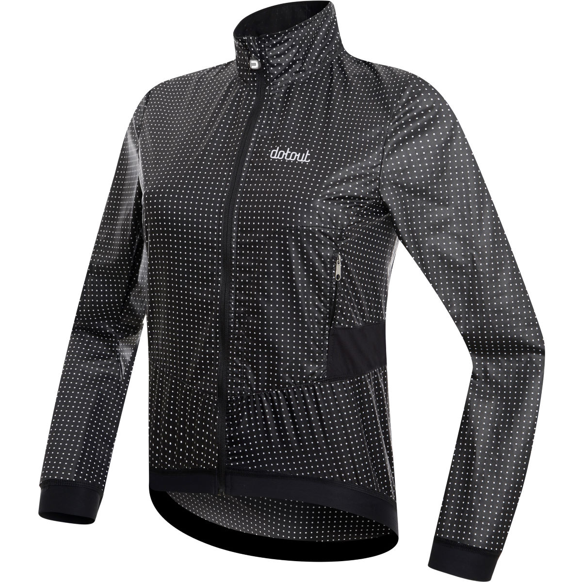 Veste Femme Dotout Tempo Pack - L Black - White Coupe-vents vélo